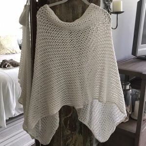 Sweaters - Minnie Rose cotton poncho-One Size Fits Most